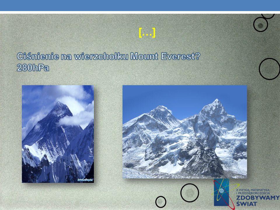 […] Ciśnienie na wierzchołku Mount Everest 280hPa